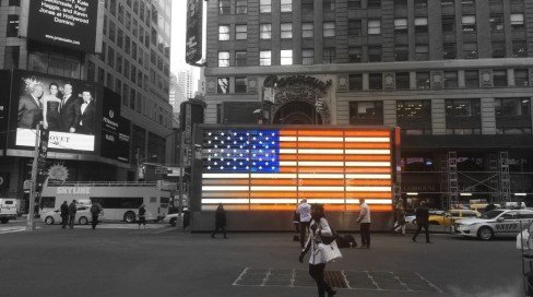 Stars and Stripes, Times Square, NYC