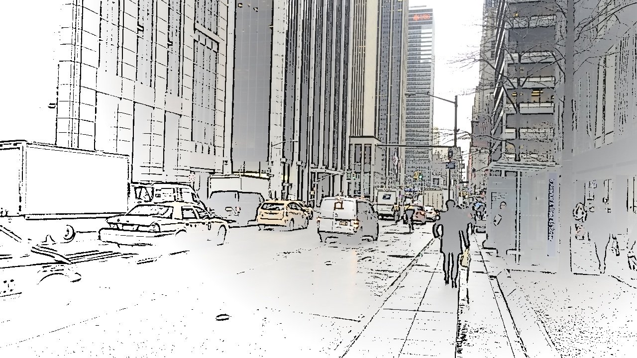 Avenue of the Americas, NYC - captured using Spotliter's SKETCH touch effect