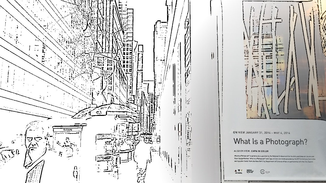What is a photograph? 43rd Street in Manhattan captured using Spotliter's SKETCH touch effect